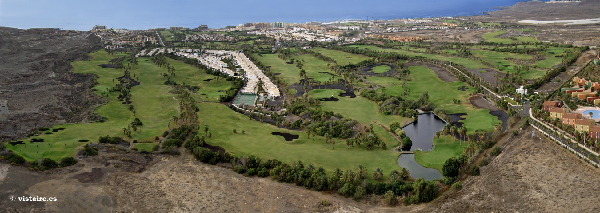 View of Golf del Sur on the island of Tenerife